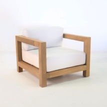 ibiza teak club chair with sunbrella cushions