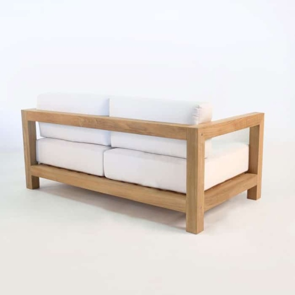 ibiza teak loveseat back angle view