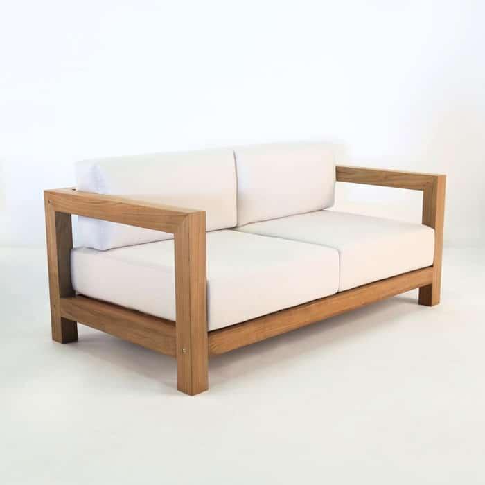 Ibiza Teak Outdoor Loveseat Patio 2 Seater Design Warehouse Nz