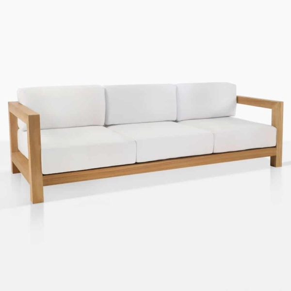 ibiza outdoor teak sofa angle
