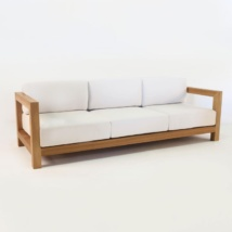 ibiza teak sofa with sunbrella cushions