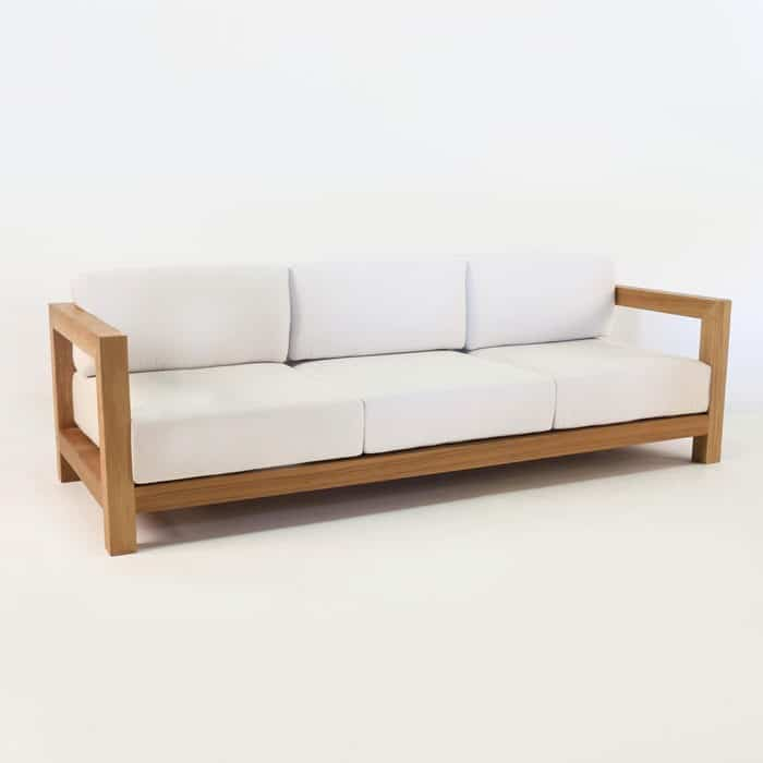 Ibiza teak outdoor sofa deep seating patio couch for Design sofa outlet