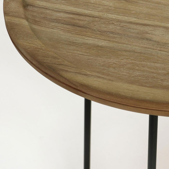Iron Reclaimed Teak Side Tables-820
