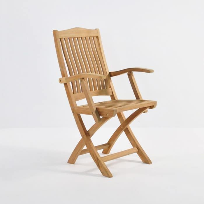 Kensington Teak Folding Dining Arm Chair-0