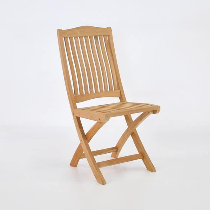 Kensington Teak Folding Dining Side Chair-0