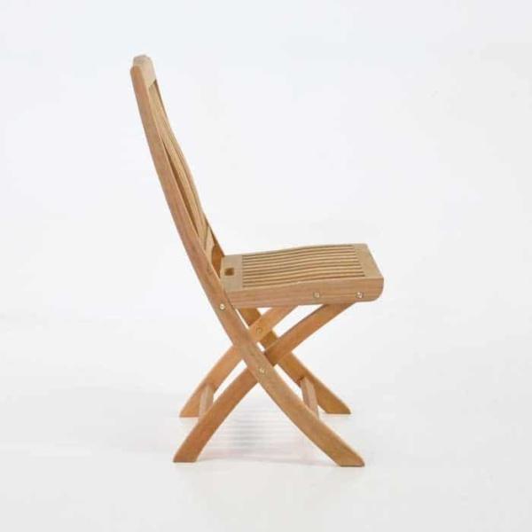 Kensington Teak Folding Dining Side Chair-464