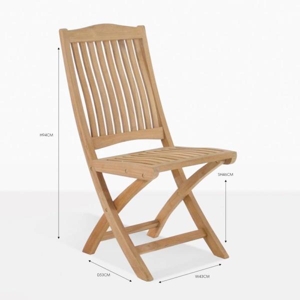 kensington folding teak chair