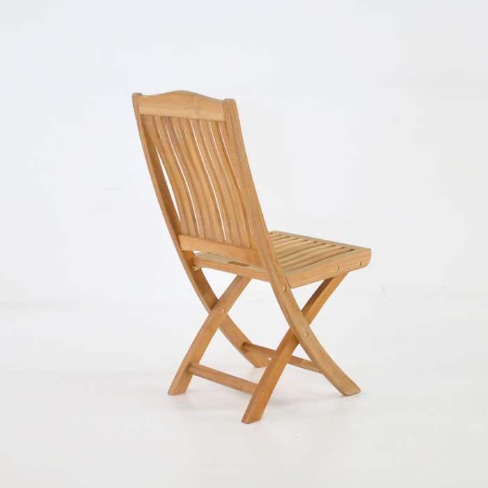 Kensington Teak Folding Dining Side Chair-465