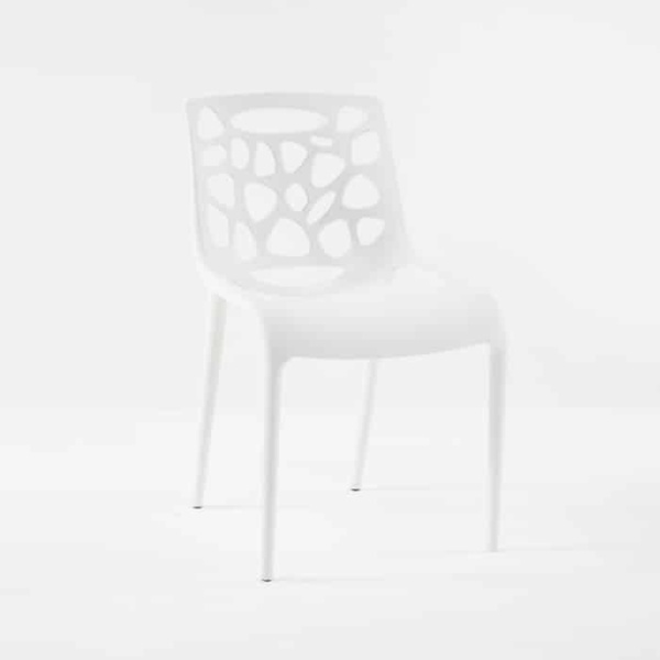 Lace Cafe Dining Chair (White)-0