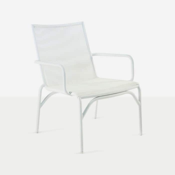 leo outdoor dining chair white angle