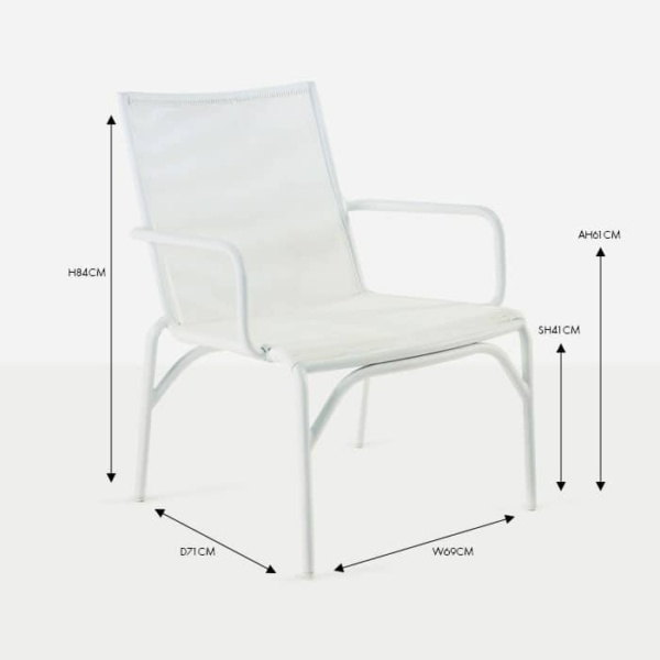Leo white wicker and aluminium arm dining chair