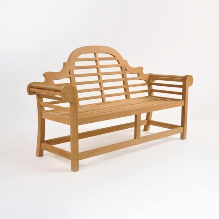 Lutyens Outdoor Bench In Teak 2 Seat 0