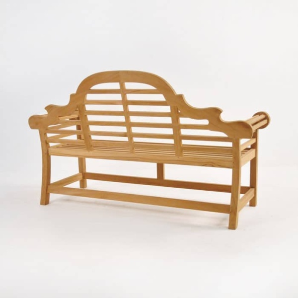 Lutyens Outdoor Bench in Teak (2 Seat)-1466