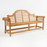 Lutyens Outdoor Bench in Teak (3 Seat)-1468