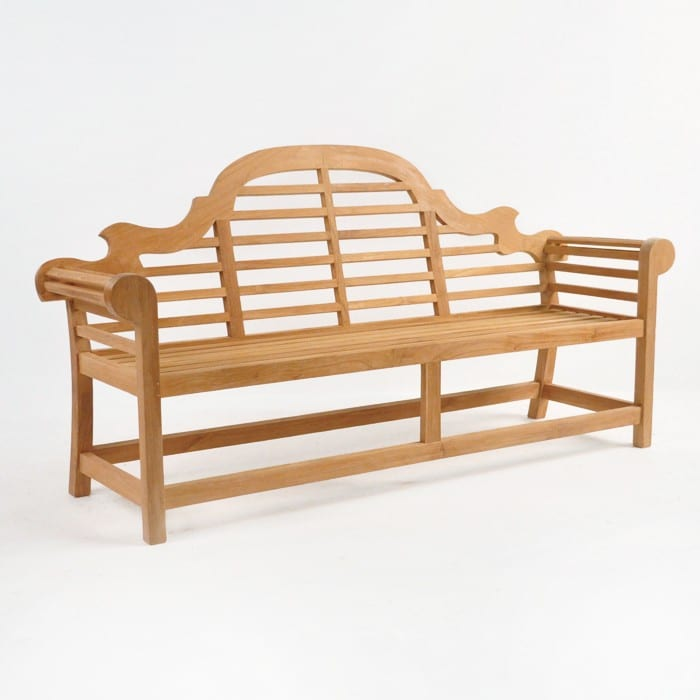 Lutyens Outdoor Bench In Teak (3 Seat)
