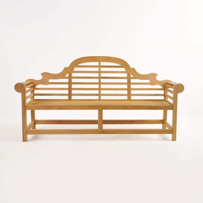 Lutyens Outdoor Bench in Teak (3 Seat)-1467