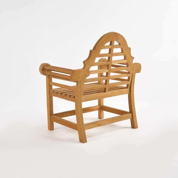Lutyens teak relaxing outdoor chair patio lounge for Relaxing chair design