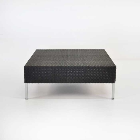 Madison Outdoor Wicker Coffee Table (Black)