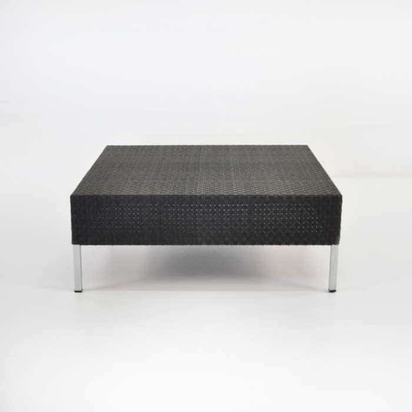 Madison Outdoor Wicker Coffee Table (Black)-707