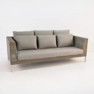 Madison Outdoor Wicker Sofa (Stonewash)-0