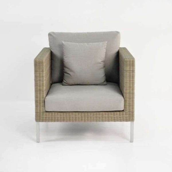 Madison Outdoor Wicker Club Chair (Stonewash)-695