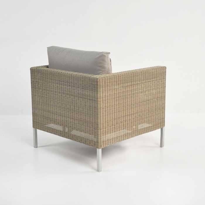Madison Outdoor Wicker Club Chair (Stonewash)-696