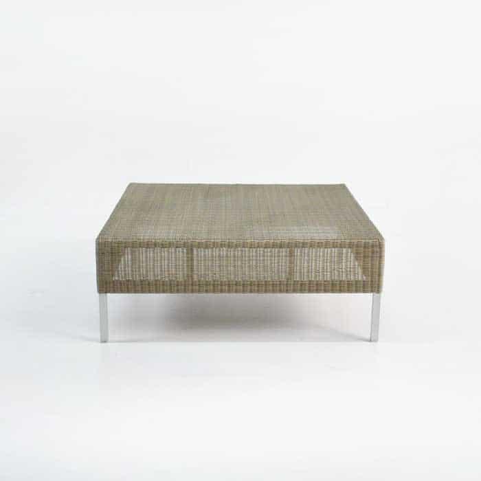 Madison Outdoor Wicker Coffee Table (Stonewash)-711