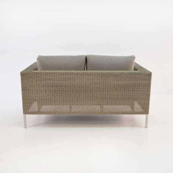 Madison Outdoor Wicker Loveseat (Stonewash)-691