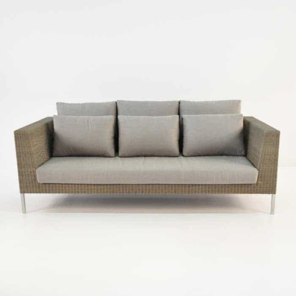 Madison Outdoor Wicker Sofa (Stonewash)-698