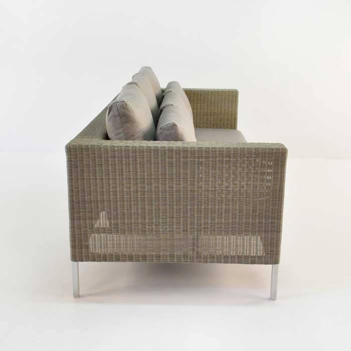 Madison Outdoor Wicker Sofa (Stonewash)-700
