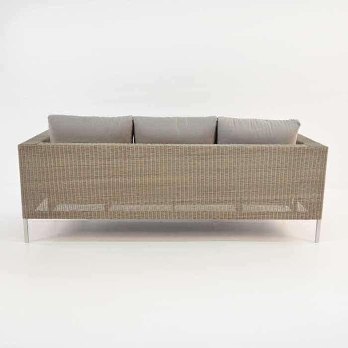 Madison Outdoor Wicker Sofa (Stonewash)-697