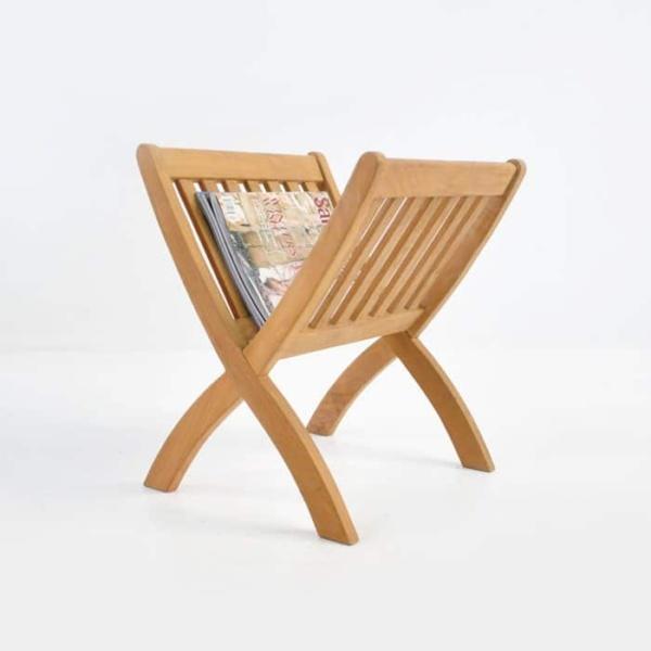 Teak wood Magazine Rack