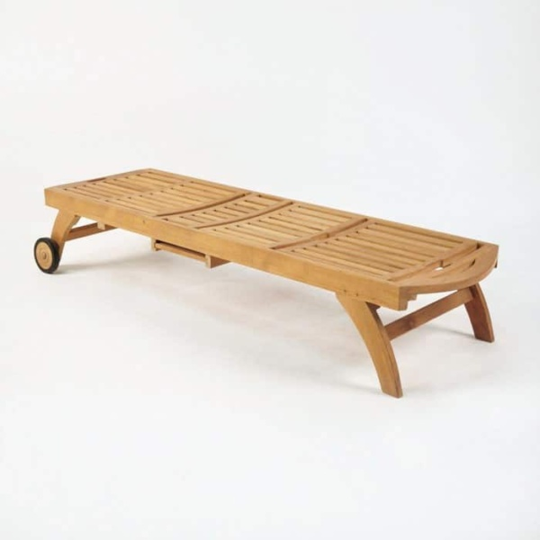 Maui Teak Sun Lounger-945