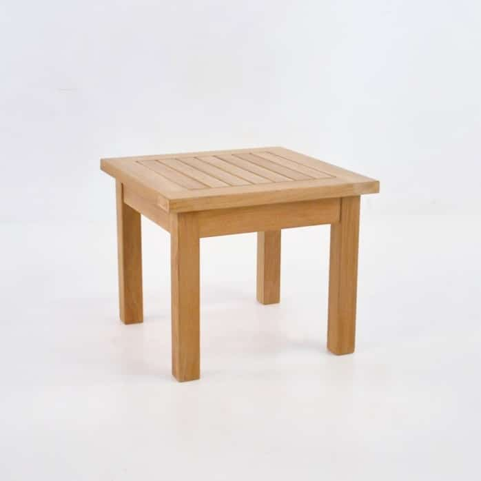 Milano Teak Side Table front angle view