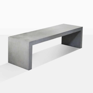 modern outdoor concrete bench angle