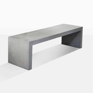modern outdoor concrete bench angle