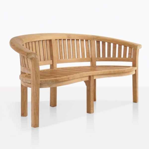 monet teak outdoor bench angle