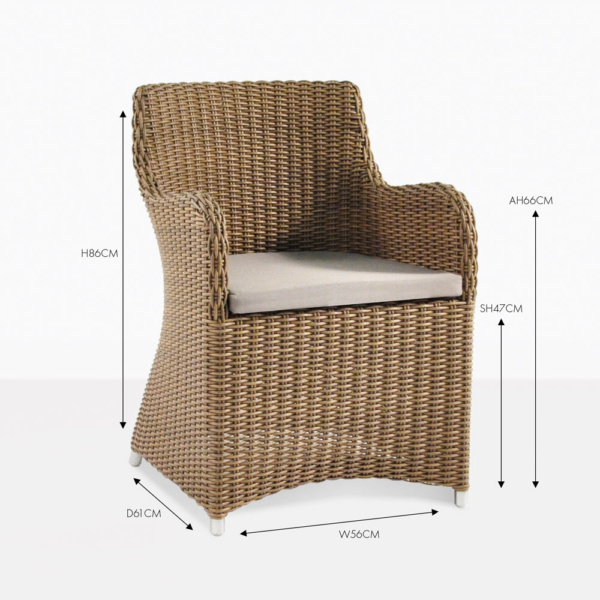 moni sampulut wicker arm dining chair