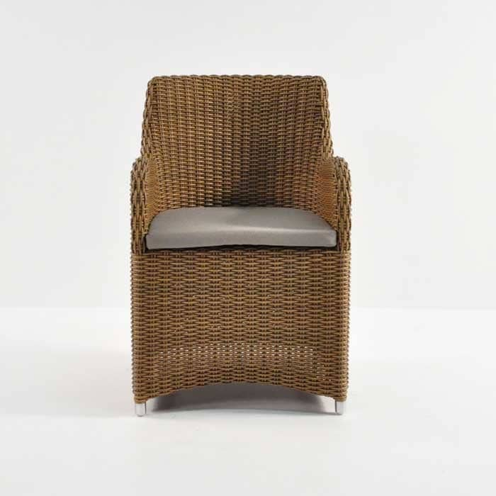 moni outdoor wicker dining chair front view