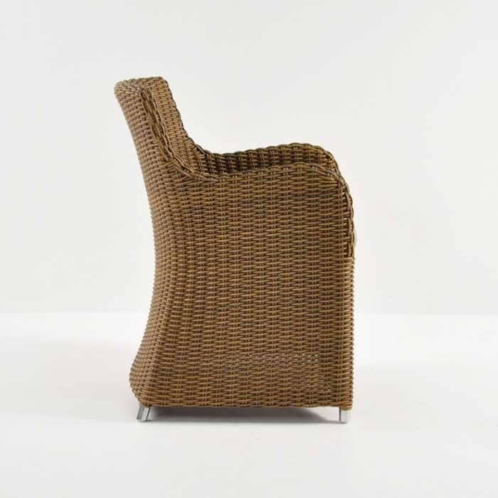 moni outdoor wicker dining chair side view