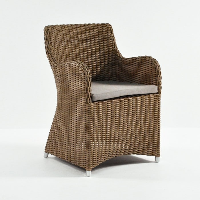 moni outdoor wicker dining chair angle view