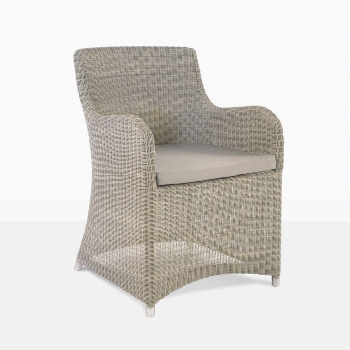 Moni Outdoor Wicker Dining Chair With Cushion