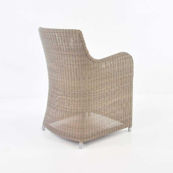 Moni Wicker Dining Chair (Stonewash)-467