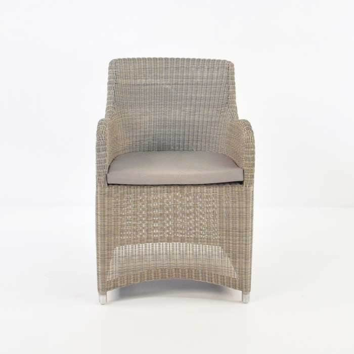 Moni Wicker Dining Chair (Stonewash)-466