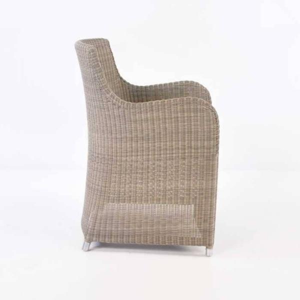 Moni Wicker Dining Chair (Stonewash)-469