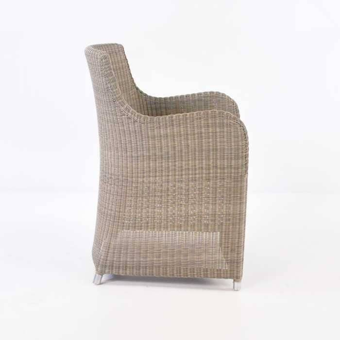 Moni Wicker Dining Chair (Stonewash)-469