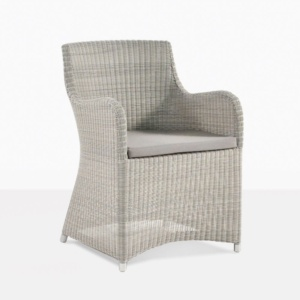 Moni Wicker Dining Chair in White