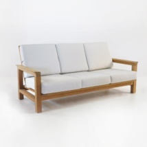 monterey teak sofa with sunbrella cushions
