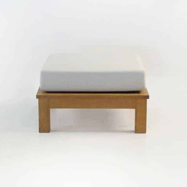 monterey teak ottoman with sunbrella cushion
