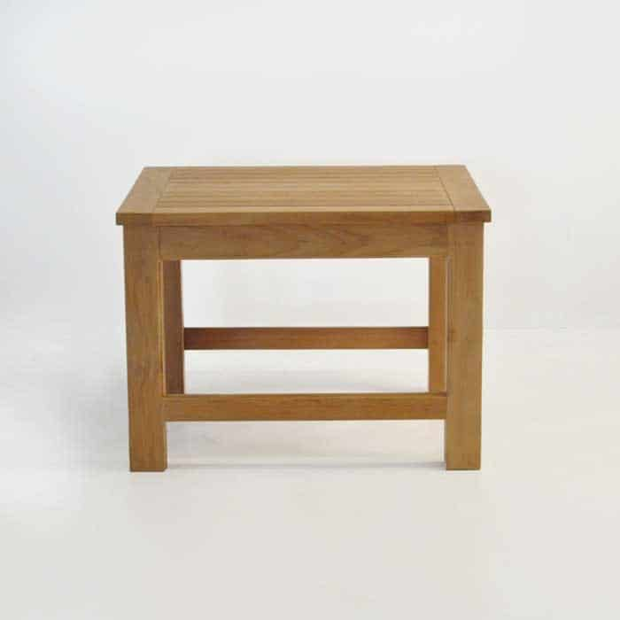 monterey teak side table front view